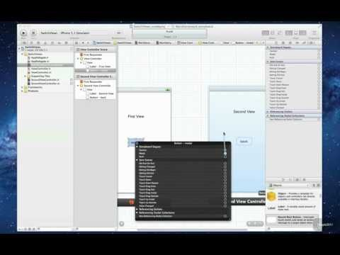 Xcode 4.3.2 iPhone SDK Tutorial - Switch views with storyboard HD