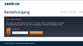 """So einfach ! Bestellung der """"CCLOUD"""" der """"centron GmbH"""" ( Cloud, Server, Lösung, Hosting )"""