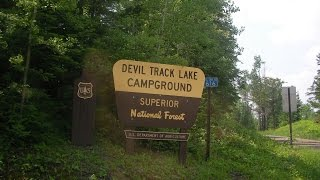 Devil Track Lake Campground drive through review Superior National Forest Minnesota