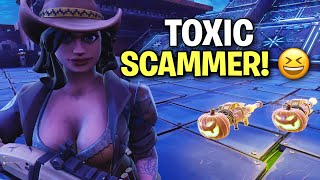 Extremely Toxic Scammer loses his guns! 🤣 (Scammer Get Scammed) Fortnite Save The World