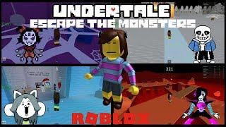 IT'S ME FRISK! STOP ATTACKING ME!!! - Roblox: Undertale Escape the Monsters