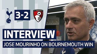 INTERVIEW | JOSE MOURINHO ON BOURNEMOUTH WIN | Spurs 3-2 AFC Bournemouth