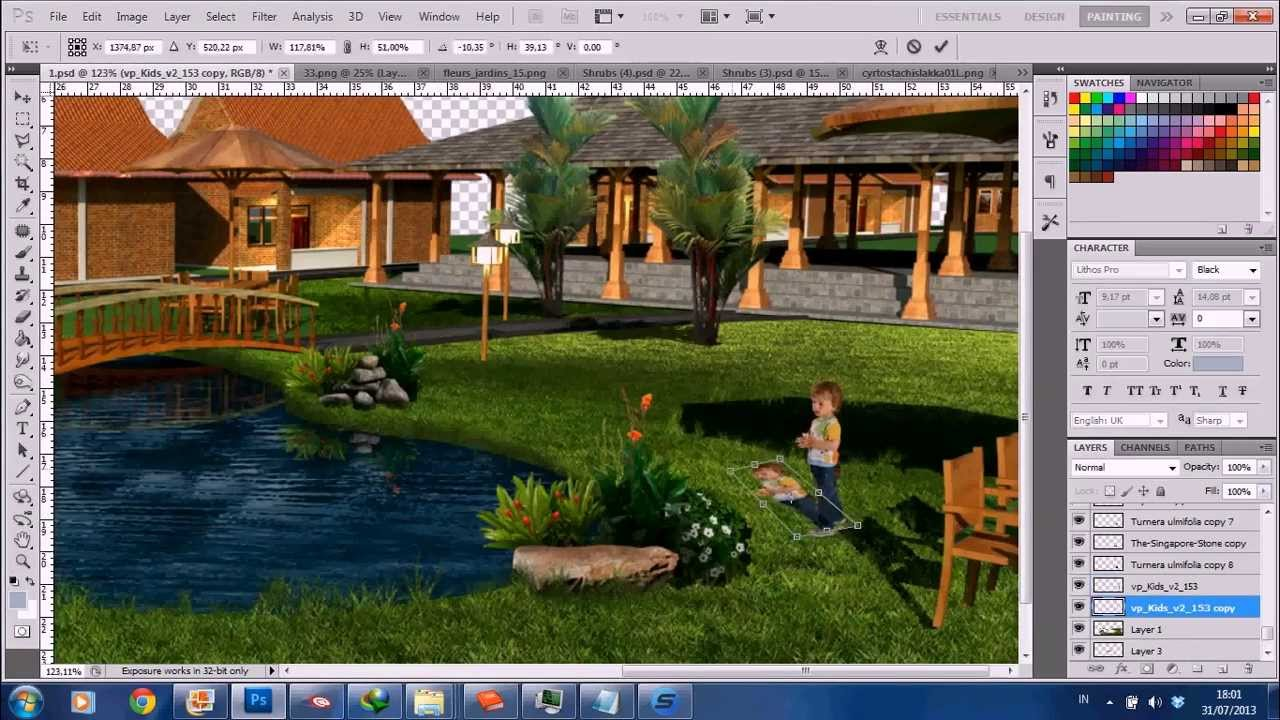 Landscape Architecture Rendering Photoshop Timelapse YouTube