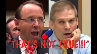 """THAT'S NOT TRUE!!!"" Rod Rosenstein HUMILIATES Trump Lackey Jim Jordan for His Conspiracy Theories"