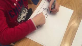 How to draw a Indy 500 race car