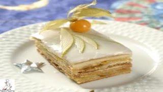 Вкусный домашний торт с фото.Торт из слоеного теста с грушами