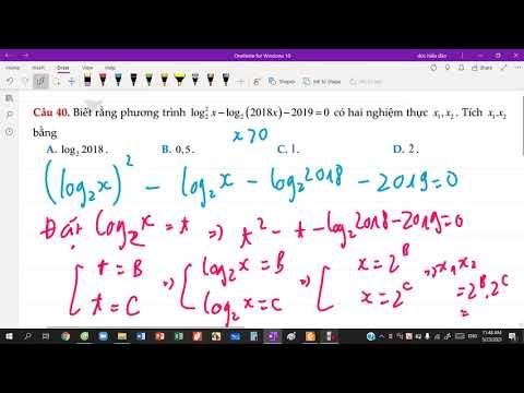 Giải phương trình logarit bằng cách đặt ẩn phụ
