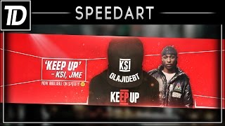 KSI - Keep Up [feat. JME] YouTube Banner | Photoshop Speed Art