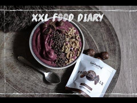XXL FOOD DIARY 🥑🥥🍴 Gesund, Fitness Food, Abnehmen, Low Carb, schnelle Rezepte