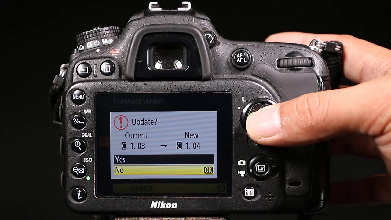 Nikon d7100 firmware update youtube.