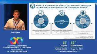 """Presentation given by tom willgoss fromroche products ltd., welwyn garden city (united kingdom) at the autism-europe's 12th international congress 2019: """"a n..."""