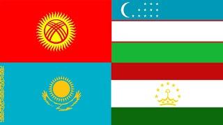 Banderas del Mundo – Banderas de Asia - Banderas de Asia Central – Asia Central