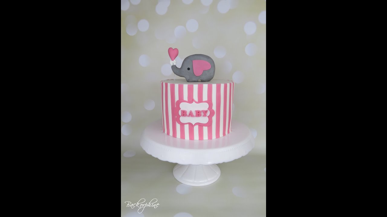Baby Shower Candy Bar   Elephant CAKE   YouTube