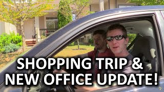 New Office Tour Vlog 2 - Serious Progress & LMG Shopping Excursion