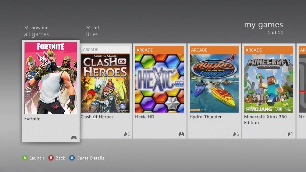 Fortnite Xbox 360 Gameplay Rgh Port Youtube