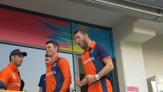 Rob Key gets reaction from some of the Netherlands squad