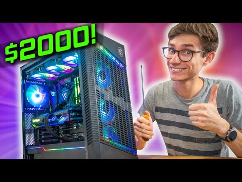 The ULTIMATE $2000 Gaming PC Build 2021! 😁 RTX 3070, Ryzen 5800X w/ Gameplay benchmarks! | AD thumbnail