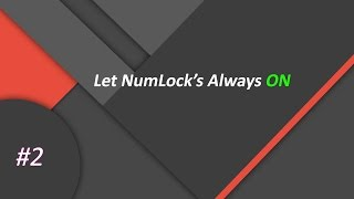 how to enable numlock on windows 10
