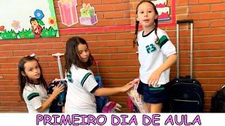 PRIMEIRO DIA DE AULA DA VALENTINA