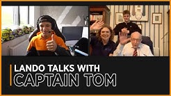 Lando talks with Captain Tom Moore