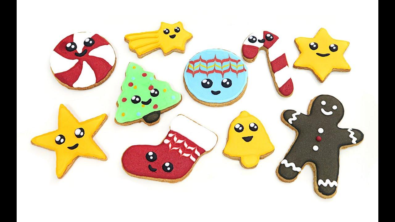 Galletas de navidad decoradas s per kawaii youtube - Cocina para todos ...