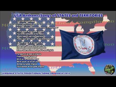 Virginia State Traditional Song OUR GREAT VIRGINIA with music, vocal and lyrics