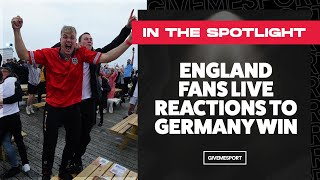 England Fans Live Reactions to Germany Win