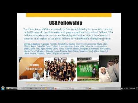 USA Eisenhower Fellowships Informational Webinar: April 25, 2017
