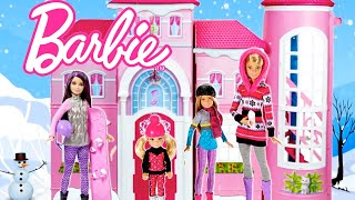 Barbie Family School Morning Routine Winter Holiday - Shopping at the Mall