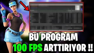 WITH THIS PROGRAM, YOU CAN BOOST 100 FPS !! (Fortnite Turkish)