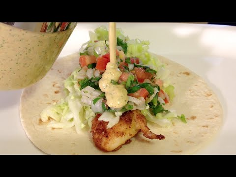 Fish Tacos Recipe-How To Make Mexican Food Recipes-Pico De Gallo-Cilantro Dressing