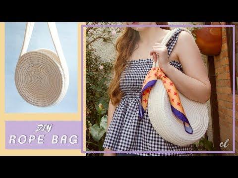 DIY Bolsa De Verano En Cuerda De Algodón - Rope Bag #tutorial | Carolina Llano