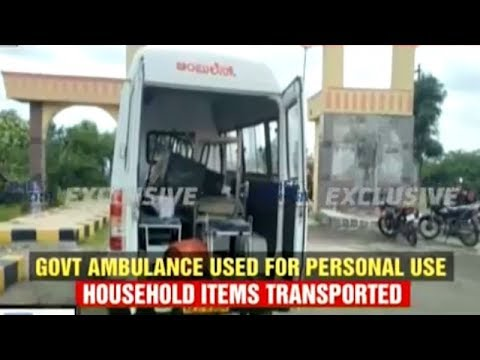 Bengaluru: Govt doctor uses hospital ambulance to transport household items