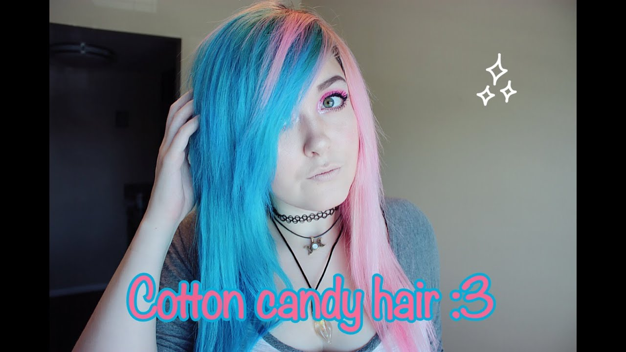 Cotton Candy hair tutorial - YouTube