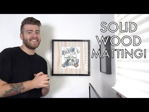 DIY Picture Frame with Solid Wood Matting | #Two2x4Challenge | Modern Builds | EP. 63
