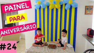 PAINEL | CORTINA DE PAPEL CREPOM | FLOR DE BEXIGA (FÁCIL E BARATO)