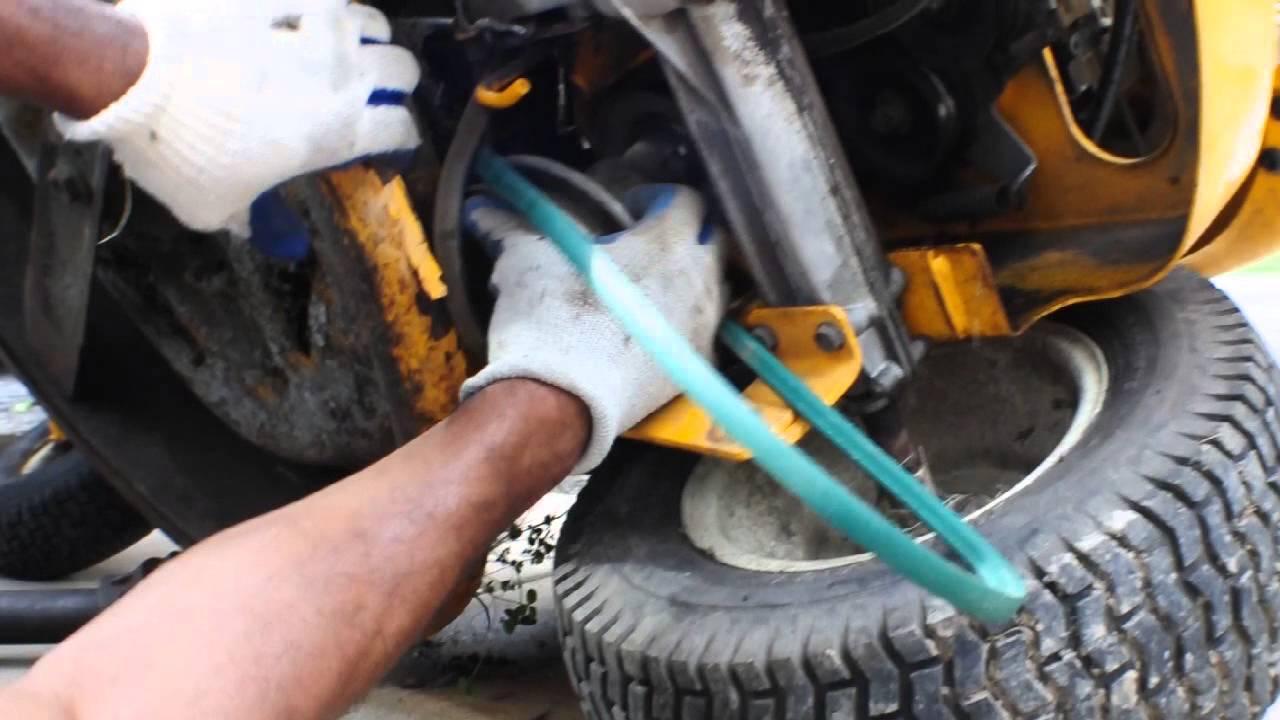 Cub Cadet Yard Bug 1027 Riding Mower Drive Belt Removal  U0026 Installation