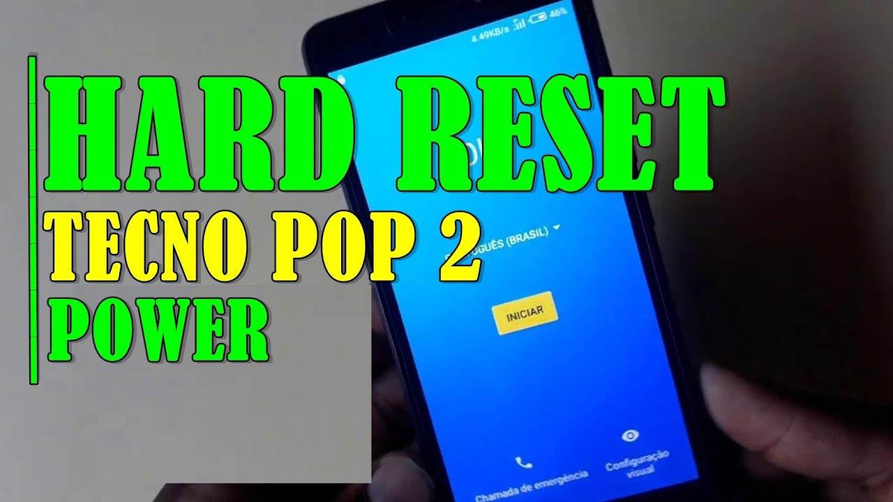 HARD RESET TECNO POP2 Power