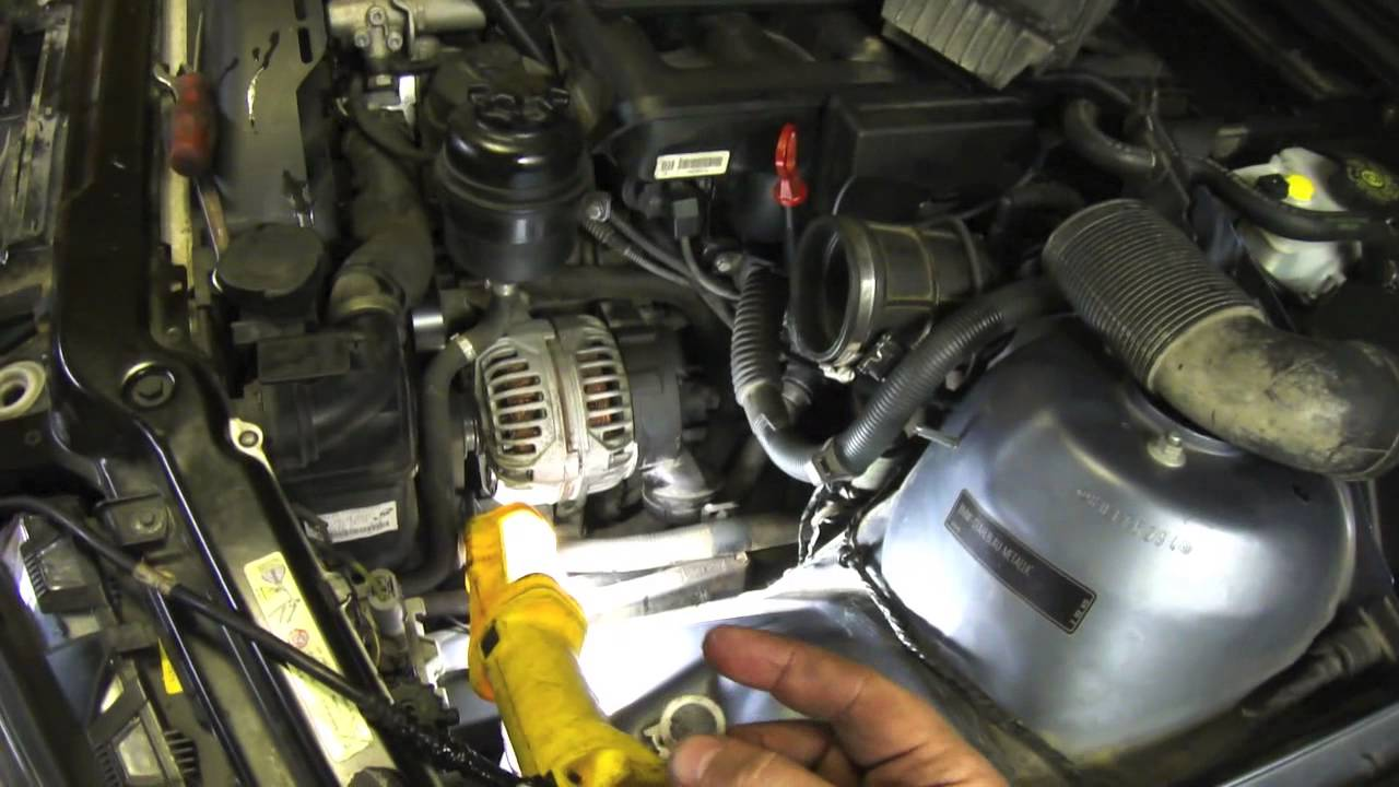 DIY Power Steering Hose Replacement E46 BMW  YouTube