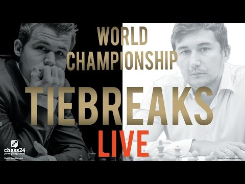 Carlsen - Karjakin Tiebreaks World Chess Championship 2016 Livestream