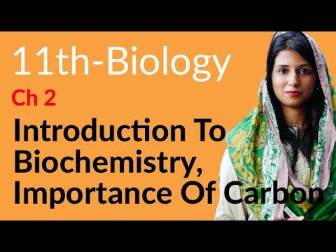 Inter Part 1 Biology, Ch 2 Biological Molecules - Introduction to Biochemistry