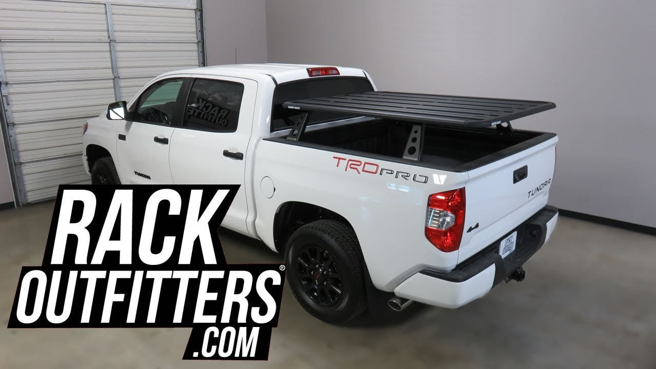 Toyota Tacoma Roof Rack >> Toyota Tundra with Rhino-Rack Pioneer Platform Pickup Tower Rack System - YouTube