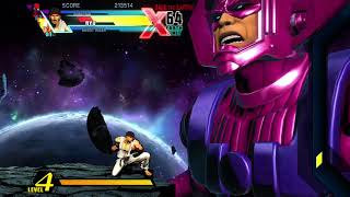 A galactus bossfight in ultimate marvel vs capcom 3 arcade mode part.65 xbox one