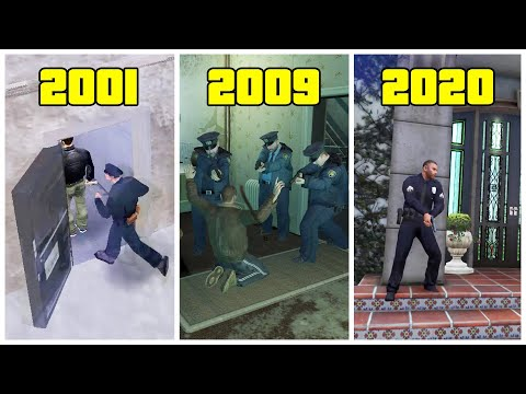 POLICE Vs SAFEHOUSES In GTA Games! (2001 - 2020) - Are They Really Safe?