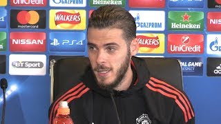 david de gea full pre match press conference manchester united v basel champions league