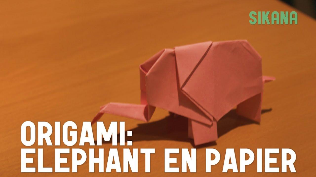 Papercraft Origami : Faire un éléphant (rose) en papier - HD
