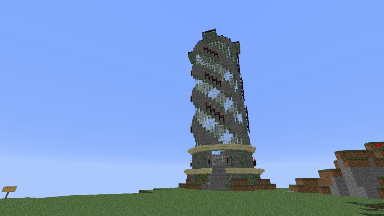 Spiral Tower Minecraft : Let s build spiral tower on the koala kraft fan server