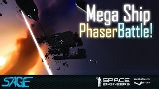 Space Engineers, Mega Ship Phaser Battle