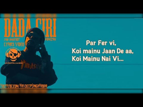 "BOHEMIA - Lyrics of Only HD Rap in 'DADA GIRI' By ""Bohemia"" & ""Sab Bhanot"""