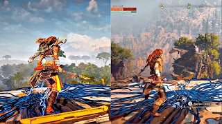 Horizon Zero Dawn PS4 PRO 4K VS PS4 1080P Graphics Comparison